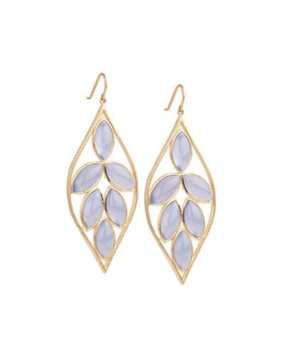 Blue Chalcedony Marquise Earrings