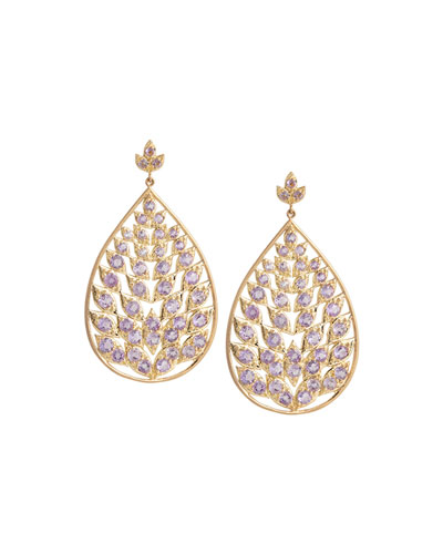 Rose of France Pear-Shape Leaf Earrings