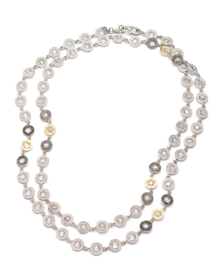 Opera Crystal & Diamond Long Necklace