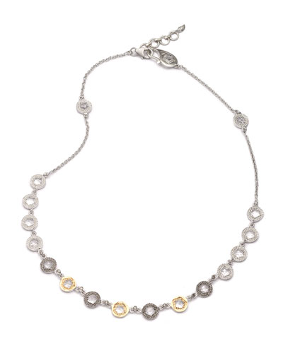 Opera Crystal & Diamond Short Necklace