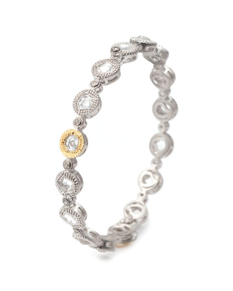COOMI Opera Crystal & Diamond Bangle Bracelet