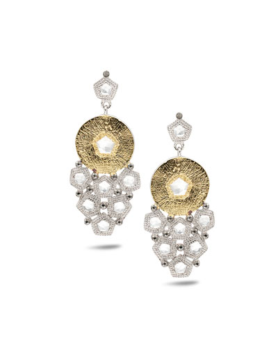 Opera Trickling Crystal & Diamond Earrings
