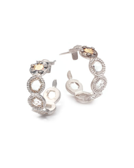 Opera Crystal & Diamond Small Hoop Earrings