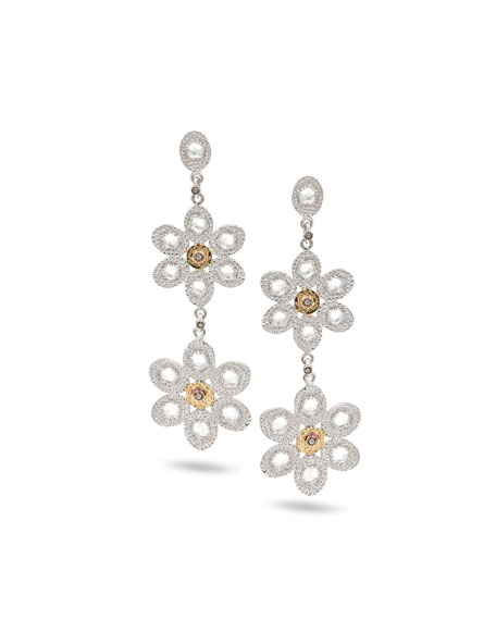 COOMI Opera Double-Flower Drop Earrings