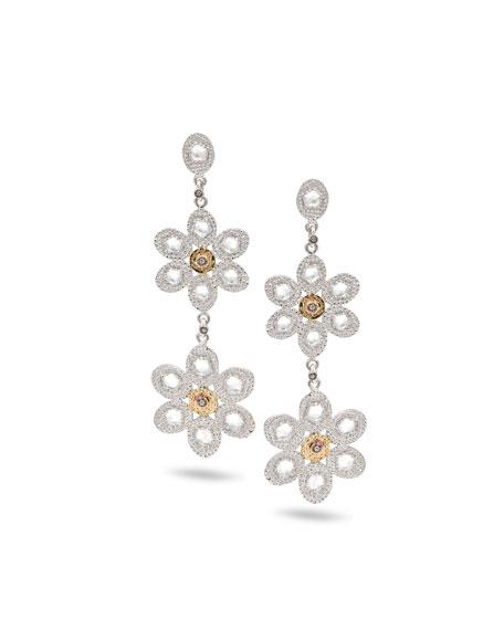 Opera Double-Flower Drop Earrings