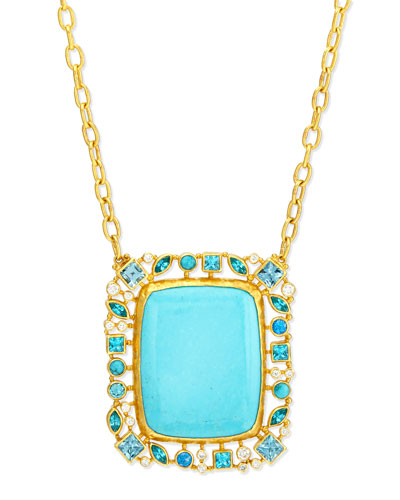 Confetti Collection Turquoise Pendant Necklace