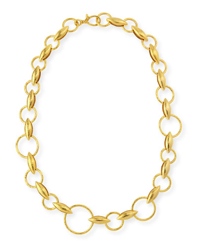 "Wheatla Collection 24k Link Necklace, 18""L"