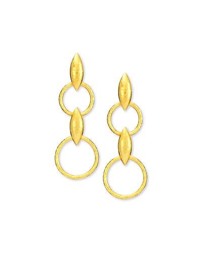 Wheatla Collection 24k Double-Drop Earrings