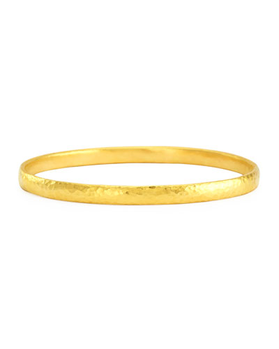 Skittle 24k Gold Bangle Bracelet