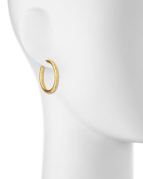 Skittle Collection 24k Hoop Earrings
