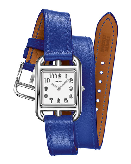 Cape Cod Watch on a Double Tour Electric Blue Calf Strap