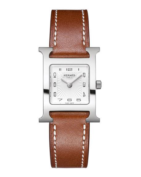 Heure H Watch on a Natural Barenia Calf Strap