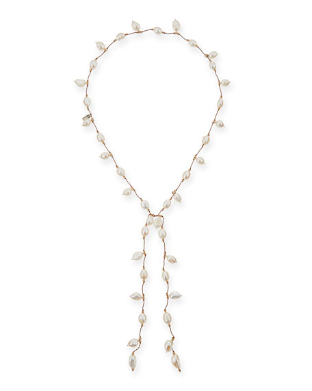 Margo Morrison Dancing Freshwater Pearl Lariat Necklace