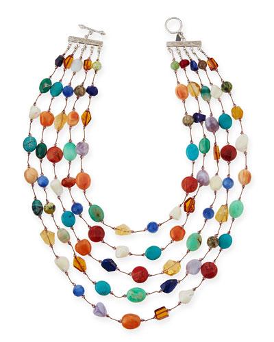 Carnival Five-Strand Multi-Stone Necklace