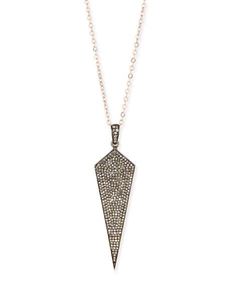 Siena Jewelry Wide Diamond Dagger Necklace with Rose