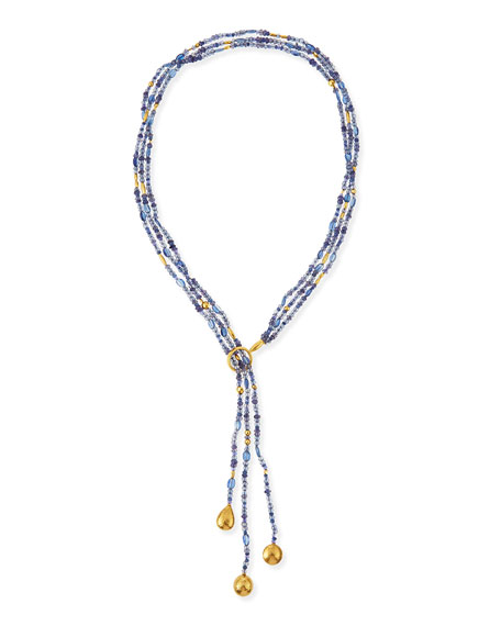 Gurhan Rain Flurries Triple Strand Scarf Necklace