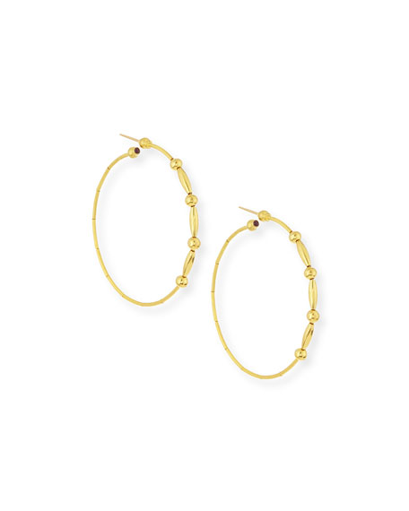 Gurhan Rain 24k Gold Large Hoop Earrings