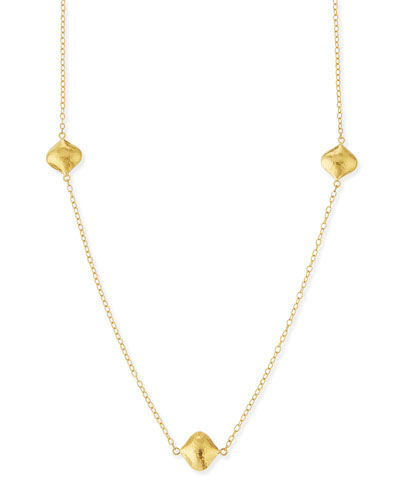 Clove 24k Gold Long Station Necklace