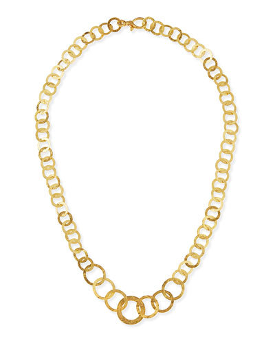 Hoopla 24k Gold Infinity Necklace
