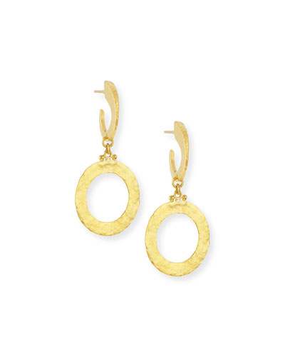 Hoopla 24k Gold Single Drop Infinity Earrings