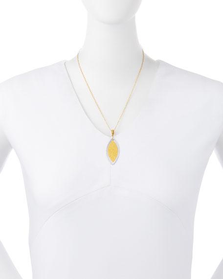 Hoopla 24k Gold & Diamond Marquise Pendant Necklace