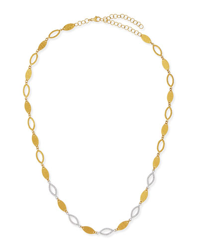 Willow 24k Gold & Diamond Short Necklace