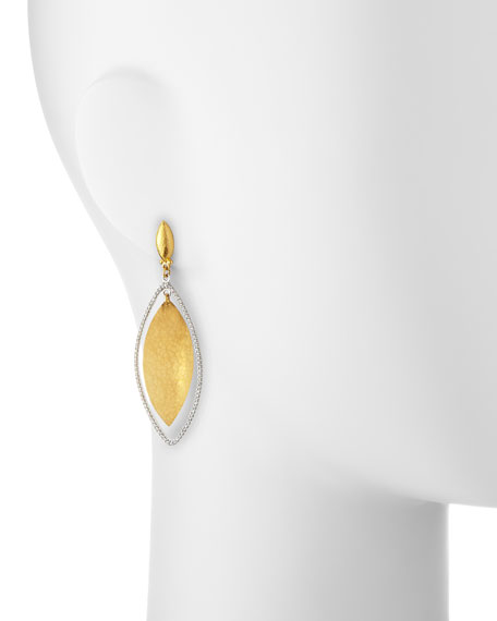Hoopla 24k Gold & Diamond Marquise Earrings