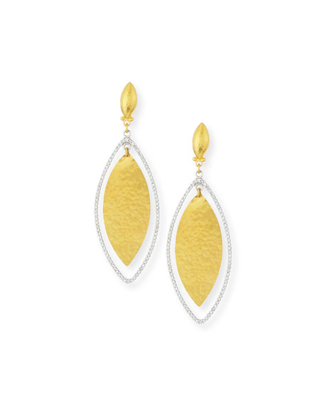 Gurhan Hoopla 24k Gold & Diamond Marquise Earrings