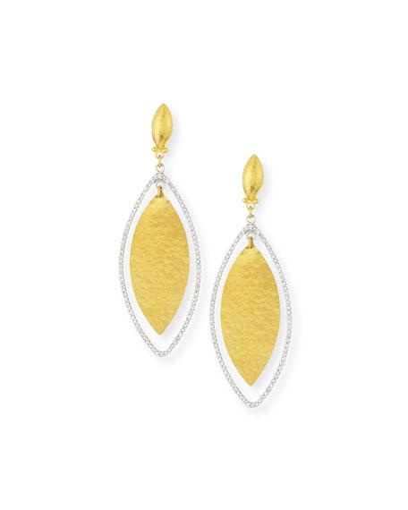 Gurhan Hoopla 24k Gold & Diamond Marquise Earrings