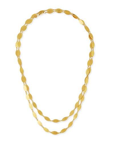 Willow 24k Gold Long Single-Strand Necklace, 40""
