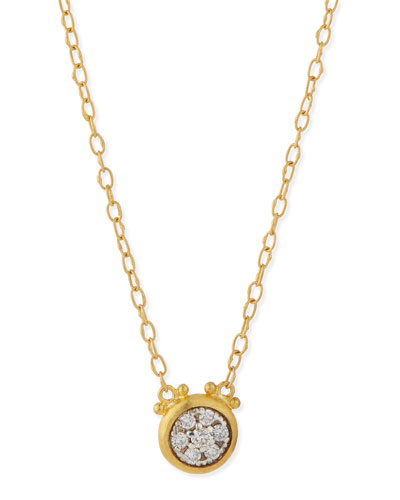 Celestial 24k Gold Diamond Pendant Necklace