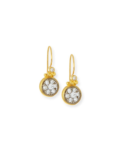 Celestial 24k Gold Diamond Drop Earrings