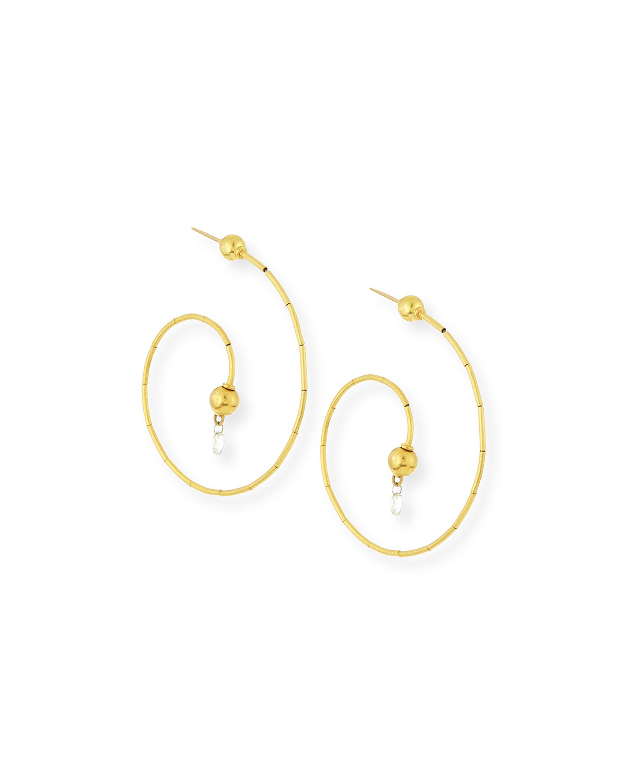 Gurhan Dew G-Spring 24k Gold Diamond Briolette Earrings 227Bng71bv