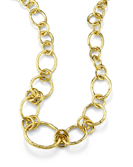18k Glamazon Revolution Link Necklace, 19