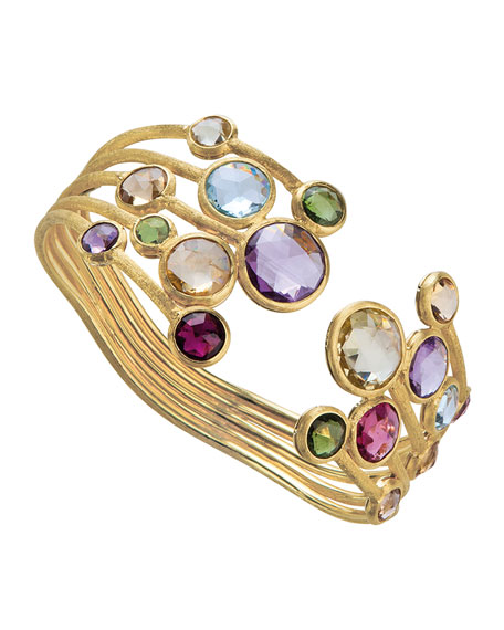 Marco Bicego Jaipur Five-Row Mixed Stone Bangle Bracelet