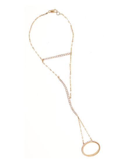 Flawless Dream Diamond Lariat Hand Chain