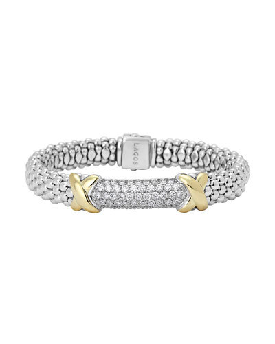 Diamond Lux Caviar X Bracelet, 9mm