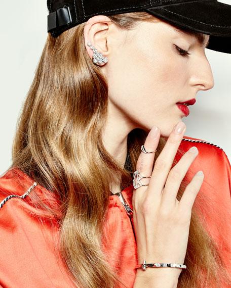 18k White Gold Diamond Climber Earrings