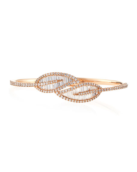 Hinged Diamond Leaf Bracelet