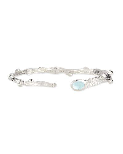 Twig Blue Topaz & Diamond Bracelet