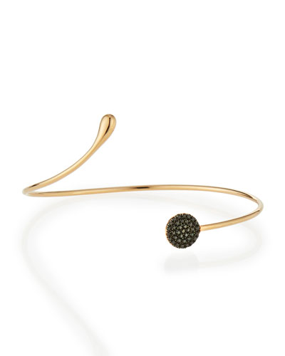 Black Diamond Circle Bangle