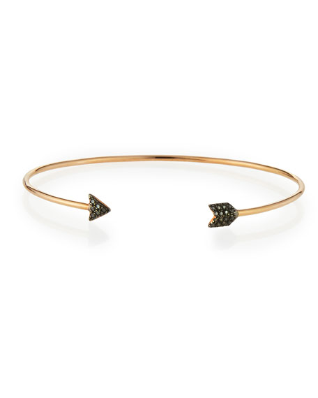 Black Diamond Arrow Bangle