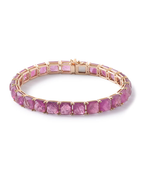 Ippolita 18K Rock Candy Tennis Bracelet in Quartz/Ruby