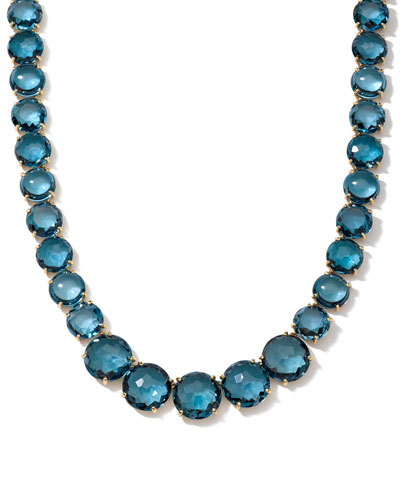 Gelato London Blue Topaz Collar Necklace
