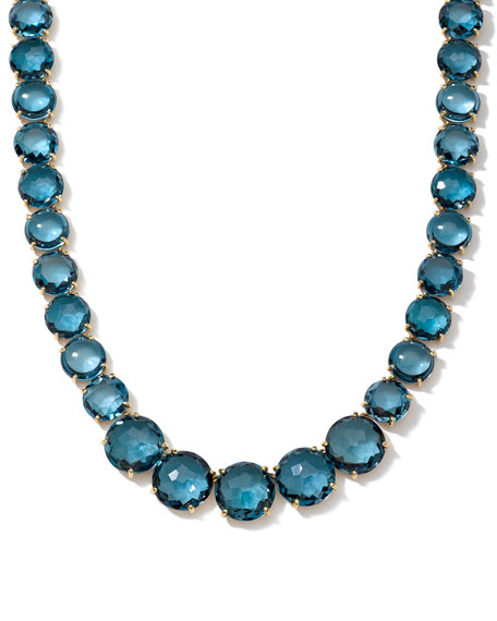 Ippolita Gelato London Blue Topaz Collar Necklace