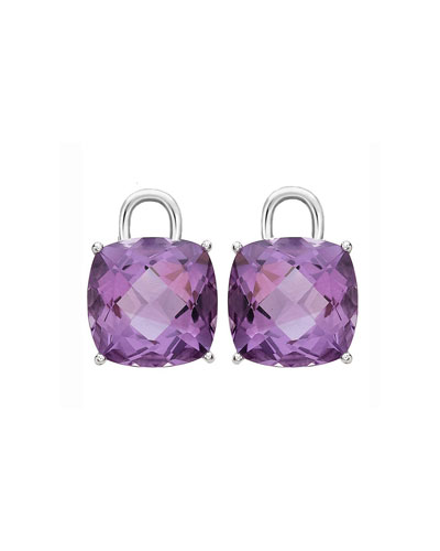 Eternal 18k White Gold Amethyst Earring Drops