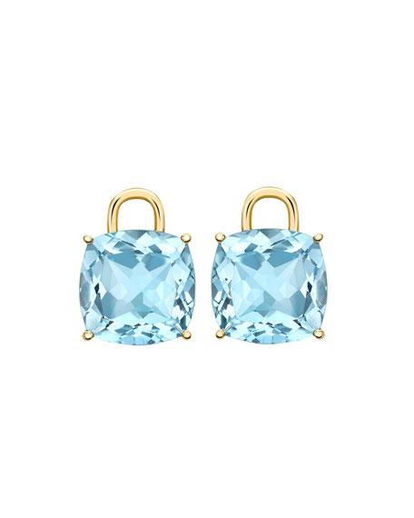 Eternal 18k Gold Blue Topaz Earring Drops