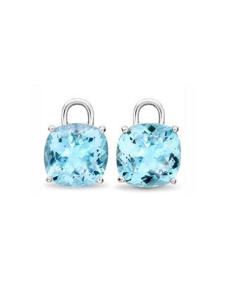 Eternal 18k White Gold Blue Topaz Earring Drops