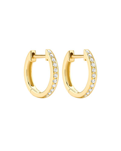 Kiki Classics 18k Yellow Gold Diamond Hoop Earrings