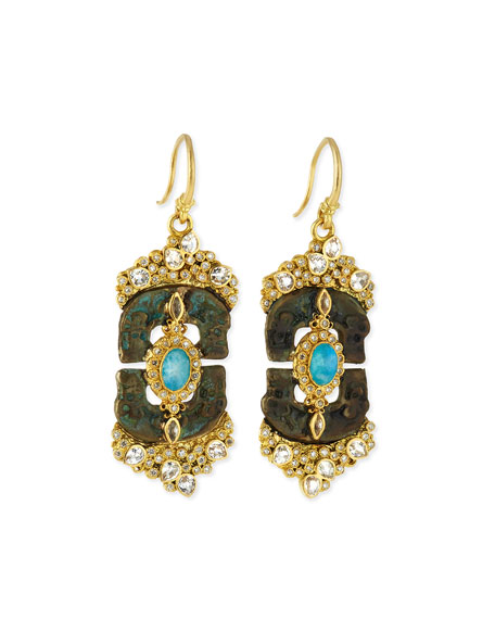 Armenta Sueno Linked Artifact Drop Earrings